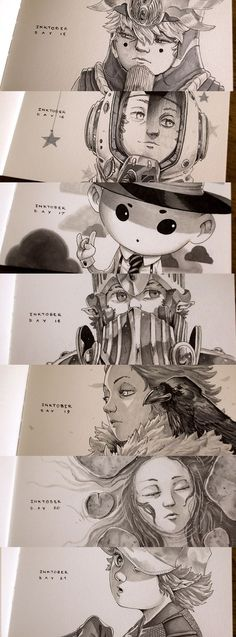 ArtStation - Inktober 2015 Week 3, Xavier Collette: