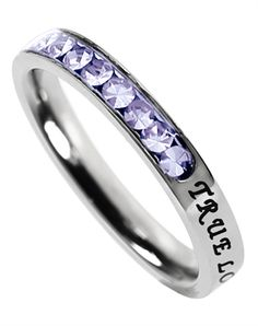 Princess Cut June Birth Stone Ring - Great Christian Rings for $25.95