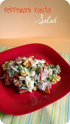 the happy little tomato: Pepperoni Pasta Salad - use gf pasta