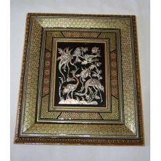 Enchantez votre intérieur grace a ce Somptueux tableau Persan alliant l'art de la ciselure et du khatam kari Perse