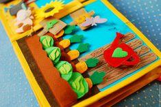 Купить Развивающая книжка из фетра Учим счет и цвет - развивающая игрушка, развивающая игра