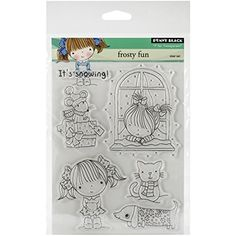 "Penny Black Clear Stamps 5""X7""-Frosty Fun Penny Black"