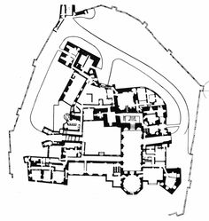 Raby Castle, Plan, County Durham, England, 1367-1390