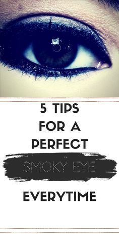 Makeup looks- Perfecting a smoky eye can be tricky! Read my 5 top makeup artist tips to guarantee a perfect smoky eye everytime.