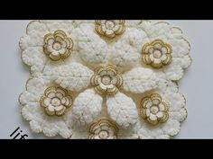 Crochet Flowers, Embroidery, Youtube, Needlepoint, Crocheted Flowers, Crochet Flower, Youtubers, Youtube Movies, Crewel Embroidery