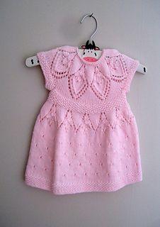 Ravelry: Sylvie Dress pattern by Suzie Sparkles. Baby dress knitting pattern, girls dress knit pattern, top down knitting, seamless knitting, one piece.