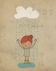Refresing rain for Illustration Friday
