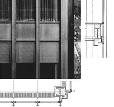 Seagram Building, Ludwig Mies van der Rohe, New York, USA, 1958 Seagram Building, Building Facade, Philip Johnson, Architecture Details, Interior Architecture, Double Skin, Building Section, Sport Hall, Ludwig Mies Van Der Rohe