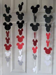 Guirnalda de ratón negro rojo y blanco estilo Strand