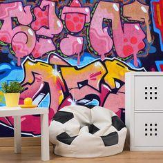 Fotobehang Graffiti nummers   Maak het jezelf eenvoudig en bestel fotobehang voorzien van een lijmlaag bij YouPri om zo gemakkelijk jouw woonruimte een nieuwe stijl te geven. Voor het behangen heb je alleen water nodig! #behang #fotobehang #print #opdruk #afbeelding #diy #behangen #graffiti #streetart #nummers #jongen #meisje #tiener #tienerkamer