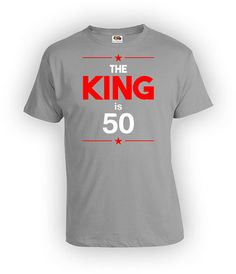 50th Birthday T Shirt Bday Gifts For Men Personalized Him Custom Age B Day