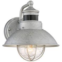 "Fallbrook 9"" High Dusk to Dawn Motion Sensor Outdoor Light - #5Y111 | www.lampsplus.com"