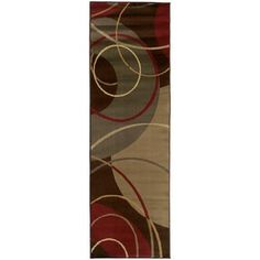 Style Haven Enchanting Circles Brown/ Red Area Rug x Beige, Size x (Polypropylene, Abstract) Red Runner Rug, Nature Color Palette, Color Palettes, Circle Rug, Spiral Pattern, Brown Rug, Blue Brown, Rectangular Rugs, Beige Area Rugs