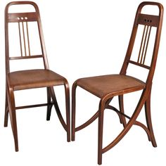 Pair of Thonet Chairs Model No. 511 | From a unique collection of antique and modern chairs at https://www.1stdibs.com/furniture/seating/chairs/