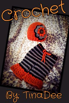 Crochet By: TinaDee Hat and flared bloomers set