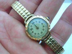 Antike Damenuhr mit goldenem Boden--defekt f. Bastler-- as is /  for repair
