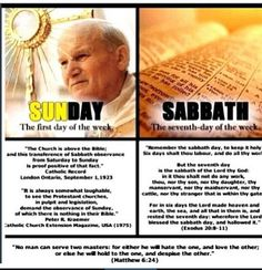 sunday vs Sabbath. Another lie told by christians and catholics and muslims