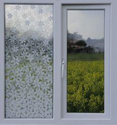 85101 Flower Gradation, Clear Film Interior/Safety/Privacy Window Film