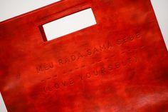 Lovely red handbag Měj ráda sama sebe - Love yourself by Lada Vyvialová III