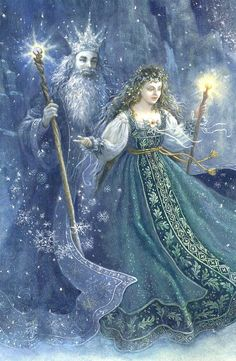 The Winter King and his daughter, the one bright creature in all the kingdom. She was happy and gay, and her childhood passed in laughter. But as she grew older, she became sad and waned, growing grey and sickly. Her father, who loved her dearly, knew that his kingdom was too cold and dark a place for his beloved daughter. So he was forced to let his daughter go, into a faroff kingdom of sunshine and bright colors, and though the princess grew strong and happy there, the king was never the…
