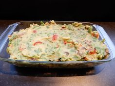 Oven dish with potato, string beans, bacon and cheese - RECIPE - Burgertrutjes - Oven dish with potato, string beans, bacon and cheese – RECIPE – Burgertrutjes - Sin Gluten, Veggie Recipes, Cooking Recipes, Deli Food, Good Food, Yummy Food, Oven Dishes, Weird Food, Crazy Food