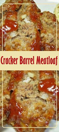 Cracker Barrel Meatloaf You Need: 2 eggs cup milk 32 Ritz crackers, crushed cup chopped onion Ground Beef Recipes, Pork Recipes, Cooking Recipes, Healthy Recipes, Family Recipes, Cooking Blogs, Cooking Ideas, Healthy Cooking, Ground Beef