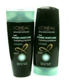 L'Oreal Advanced Hair Care Power Moisture Duo: Shampoo & Conditioner, 12.6oz/each.