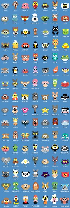 Here's all the animals you get with the Masketeers Printable Animal Masks book + 77 bonus Halloween masks + Access to the members area with more masks and where you can even make requests . All for only $19!