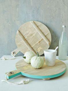 Green Rim Bread Board