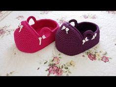 Porta Bebe tejidas a crochet - YouTube