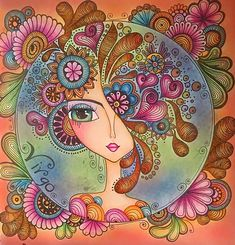 Decor Inspiration from Comic-Con Mandala Art, Image Zen, Pop Art, Art Fantaisiste, Art Populaire, Pottery Painting, Whimsical Art, Portrait Art, Face Art