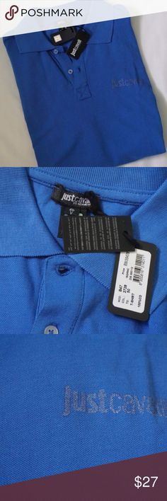 BRAND NEW JUST CAVALLI MEN POLO SIZE XL -BRAND NEW WITH TAG -SIZE: XL(RUN SMALL) -COLOR:  BLUE -DESCRIPTION: 100%COTTON            ⭐RATED SELLER  👍FAST SHIPPER NEXT DAY SHIPPING  ❌NO TRADE ❌NO PAYPAL ✅BUNDLE OFFER Just Cavalli Shirts Polos