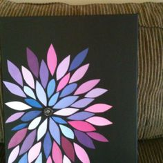 Paint chips on canvas