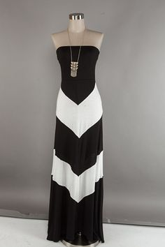 chevron B maxi dress
