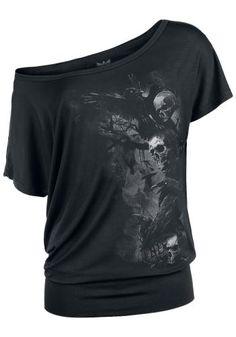 Skulls And Raven - Black Premium by EMP T-paita