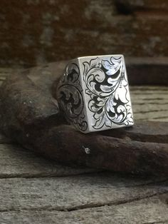 Signet Ring-Deep Relief Engraved
