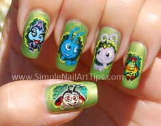 Disney / Pixar BUGS LIFE Nail Art Manicure  #nails #nailart