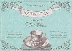 Tiffany Blue Bridal Shower Tea Invitation  by PartyPopInvites, $17.00