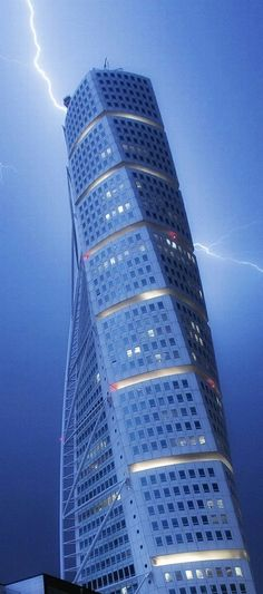 Lightning Strike Sweden's Turning Torso