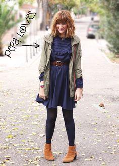 vestido azul pepa loves