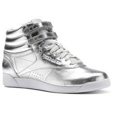 Reebok Freestyle Hi Metallic - Silver  477fa80fd