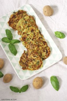 Zucchini - Kartoffel - Puffer mit Basilikum | Penne im Topf | Bloglovin'