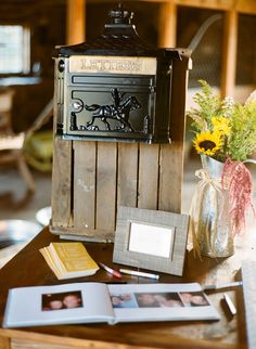 Antique mailbox for cards | Bliss Weddings Boston Blog: Amanda and Mike take 2