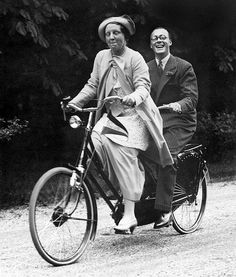 VELOCIPEDE~Queen Juliana and Prince Bernhard on a tandem bike. Royal Cycle Chic a la Orange « Amsterdamize Nassau, Juliana Louise, Royals, Tandem Bicycle, Vintage Cycles, Dutch Royalty, Cycle Chic, Bike Style, Royal Weddings