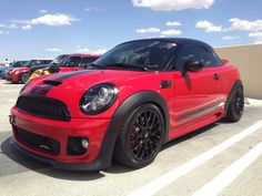 Zcast's JCW R58 slammed on Fortune Auto Series 500 coilovers. Very nice...