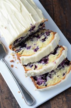 Blueberry Lime Cream Cheese Pound Cake via The Novice Chef #recipe
