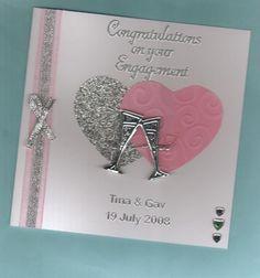 homemade cards ideas | ... Engagement Handmade Card | Carols Cards MISI Handmade Shop