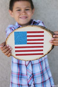 Glitter Tape Flag - a fun and easy 4th of July craft!