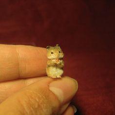 Dollhouse Miniature Handmade Realistic Sculpture 1 12 Two Hamster | eBay