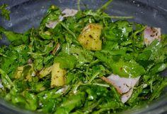 Ananászos-sonkás rukkola saláta ~ Éhezésmentes Karcsúság Szafival Seaweed Salad, Grapefruit, Vitamins, Ethnic Recipes, Food, Hoods, Meals